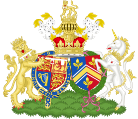Duke and Duchess of Cambridge combined Coat of Arms