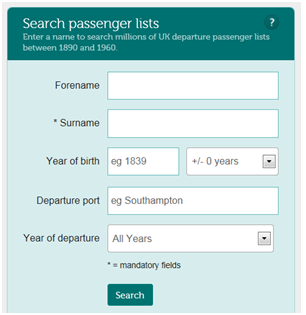 Search Passenger Lists
