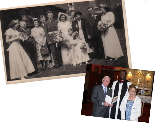 Wedding in 1952 and wedding vows renewed in 2012