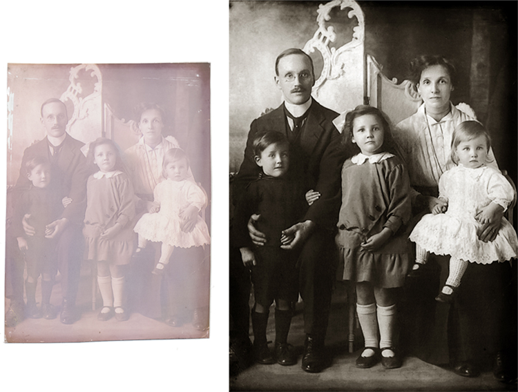 Faded photograph restored