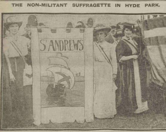Non militant suffragette in hyde park