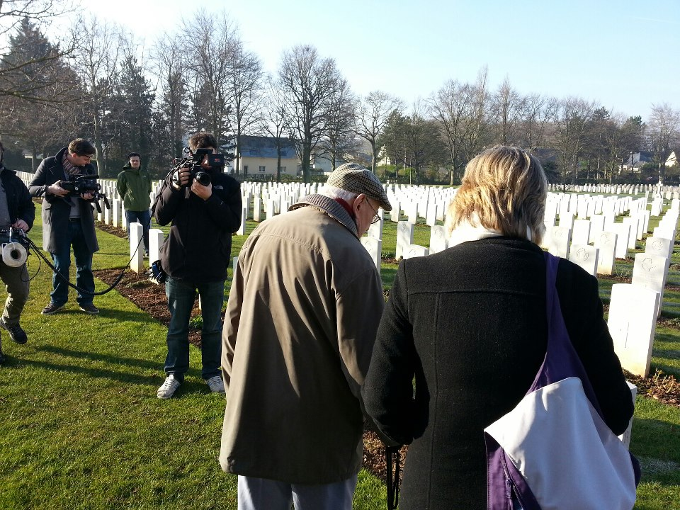 Visiting the grave stones