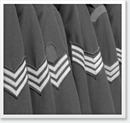 Line of military jackets
